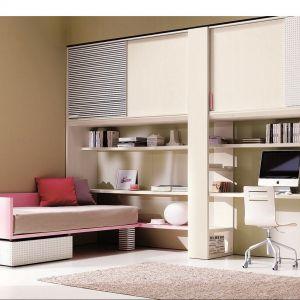 Meblościanka to doskonałe rozwiązanie do pokoju dziecka. Pozwala umieścić wszystkie meble na jednej ścianie, pozostawiając w pokoju dużo miejsca do swobodnej zabawy. Fot. Dielle