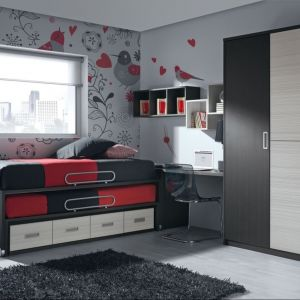 Dwa łóżka w jednym - dobre rozwiązanie na wypadek, gdyby mógł zanocować u nas kolega z klasy. Fot. Muebles Lara