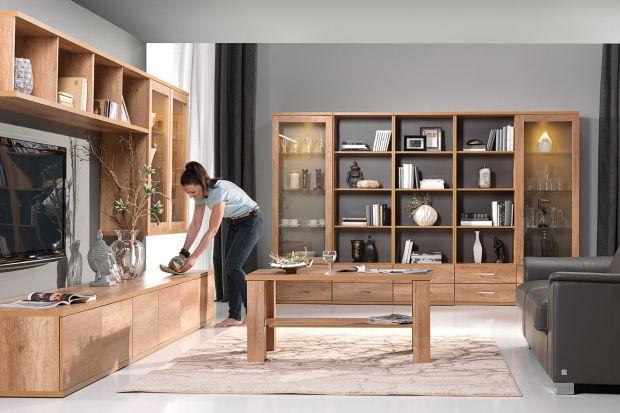 Wybór mebli do salonu jest bardzo bogaty. Dziś prezentujemy kolekcje z otwartymi pólkami, które pozwolą urządzić modny pokój dzienny.