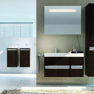 Imperial to dowód na to, że ciemne dekory także pięknie urozmaicą wnętrze naszej łazienki. Fot. Oristo