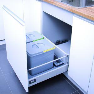 Jeden z wariantów systemu segregatorów odpadów Eco Conte firmy GTV. Fot. GTV