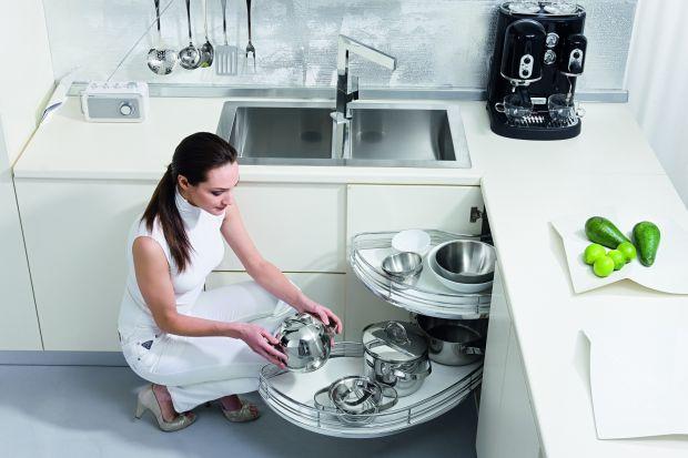 Szafki w kuchni. Sprytne organizery i szuflady