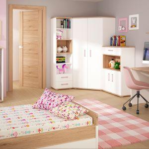 Radosnego charakteru meblom z kolekcji Amazon dodają kolorowe, ozdobne uchwyty. W kolekcji znajduje się szeroka gama produktów, a w niej wszystko co niezbędne do zapewnienia dziecku komfortu w pokoju: biurko, regały, łóżko, a także ciekawe komody, półki i szafy. Fot. Wójcik