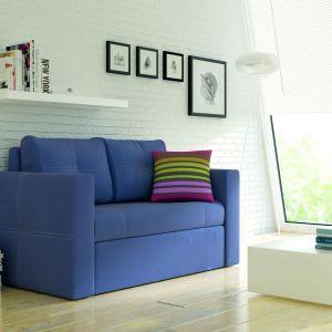 Dwuosobowa sofa Bunio z funkcją spania sprawdzi się w małym salonie lub pokoju młodzieżowym. Cena: 999 zł. Fot. Black Red White