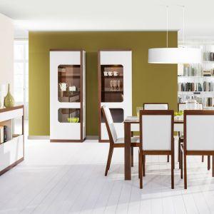 Jadalnia Malta to propozycja do nowoczesnego wnętrza, w których stawiamy na oryginalność i niepowtarzalne wzornictwo. Cena stołu i krzeseł: 1.745 zł. Fot. Szynaka Meble