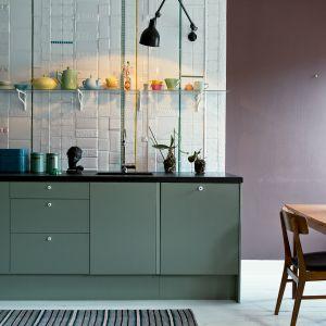 Aneks kuchenny w nietypowym kolorze, bez górnej zabudowy będzie nowoczesnym wyposażeniem mieszkania. Fot. Fantastic Frank