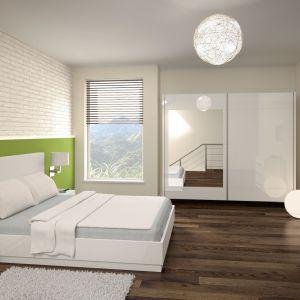 """Sypialnia """"Dalia"""" marki Prospero to doskonała propozycja dla osób lubiących nowoczesny i nieco minimalistyczny styl w sypialni. Fot. Prospero"""
