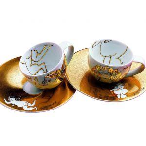 """Zestaw marki Rosenthal z kolekcji Andy'ego Warhola to filiżanki do espresso """"Golden Angels"""" dla miłośniczek nowoczesnej sztuki. Fot. Rosenthal"""