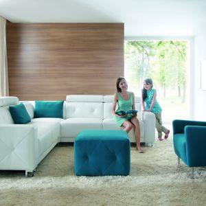 Sofa Life prezentuje piękną, klasyczną formę i doskonale łączy kolory. Fot. Wajnert Meble