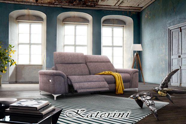 """Sofy z kolekcji """"Katerini"""" zapewniają ponadprzeciętny standard wypoczynku dzięki właściwie dobranym parametrom ergonomicznym."""