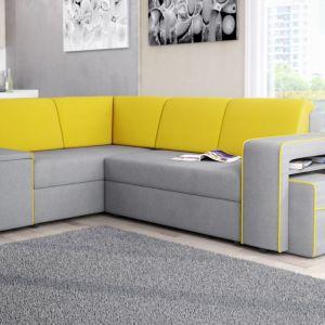 Żółto-szary narożnik Ibiza wyróżnia się nowoczesną formą. Fot. Fresh