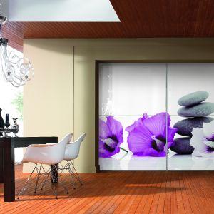 Białe szkło stworzy nastrój minimalistyczny, natomiast szkło z nadrukiem może być bardzo awangardowym akcentem wnętrza. Fot. Komandor