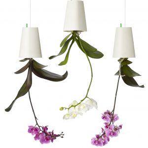 Odwrócona doniczka na kwiaty to idealny prezent dla kobiety, która docenia efektowne wnętrza. Na zdjęciu doniczki  Sky Planter. Fot. Hängender Blumentopf