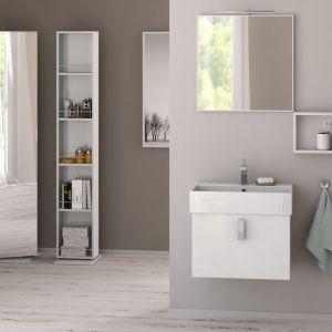 Meble do łazienki Neo. Zestaw wykonany jest z MDF, lakierowanej na wysoki połysk. Kolekcja jest dostępna w kolorze białym lub antracyt. Fot. Krofam