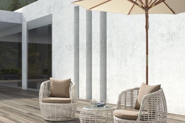Pięknie meble ogrodowe o wyjątkowym kształcie.