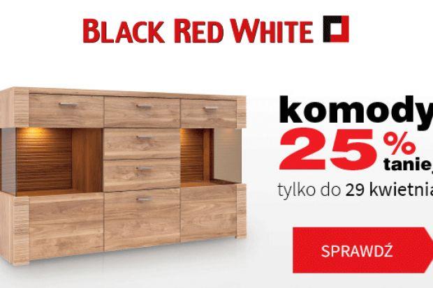 Ciąg dalszy wiosennych promocji od Black Red White. Do 29 kwietnia w ofercie sklepów <br />dostępne są komody tańsze aż o 25%. Szeroki wybór asortymentu pozwoli odświeżyć każde <br />wnętrze w zależności od potrzeb Klientów.