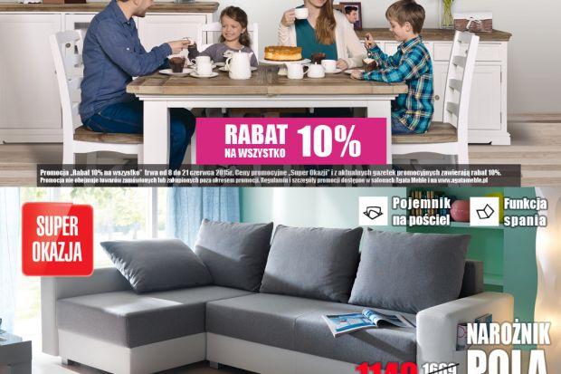 """Promocja """"Rabat 10% na wszystko"""" trwa od 8 do 21 czerwca 2015 r. Ceny promocyjne """"Super Okazji"""" i z aktualnych gazetek promocyjnych zawierają rabat 10%."""