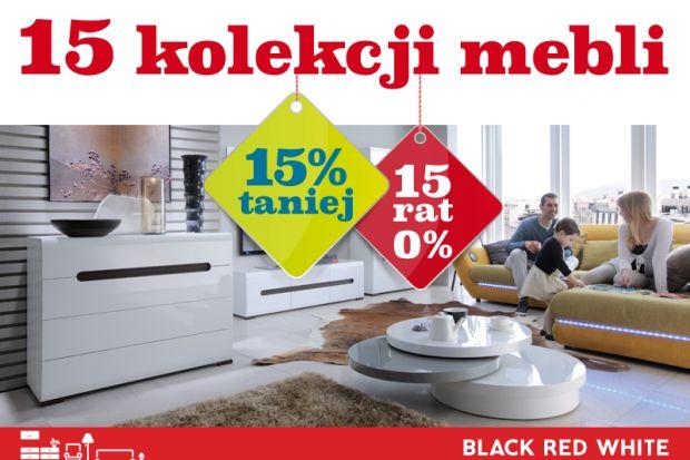 Osoby, które zamierzają w najbliższym czasie odświeżyć wystrój mieszkania mogą skorzystać z atrakcyjnej promocji w Black Red White. W salonach czeka aż 15 kolekcji meblowych tańszych o 15%! Płatność za zakupy całego asortymentu można rozł