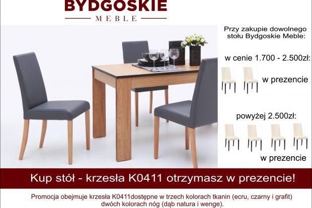 Przy zakupie dowolnego stołu Bydgoskie Meble - krzesła K0411 otrzymasz w prezencie! Szczegóły u sprzedawców.