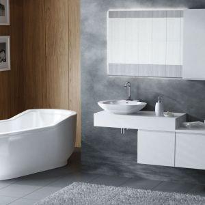 Decydując się na umywalkę wolno-stojącą, warto wybrać szafkę, która daje sporą przestrzeń blatu. Dzięki temu będziemy mieli miejsce na ustawienie np.: mydelniczki. Na zdjęciu kolekcja Combi. Fot. Antado