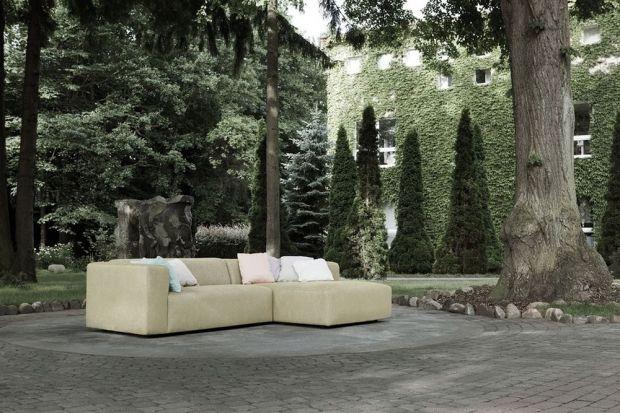 """Milano"" to piękna sofa do salonu w obiciu z naturalnego lnu."