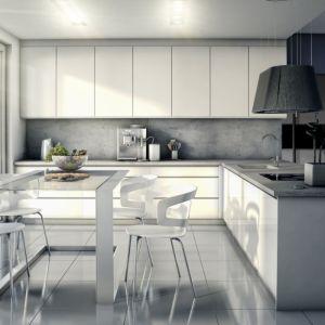 Nowoczesna kuchnia Cube White. Fronty pozbawione uchwytów wyglądają bardzo efektownie. Fot. Bik Meble