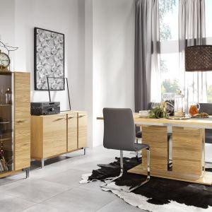 Kolekcja Argento zachwyca pięknymi rysunkami drewna oraz nowoczesną, prostą stylistyką. Fot. Bydgoskie Meble