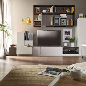 W kolekcji Muto przyciągającym uwagę elementem są kolorowe półki, które pozwalają spersonalizować meble. Fot. Meble Vox
