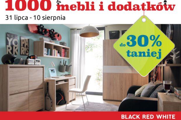 Najnowsze promocje w Black Red White to doskonała okazja do dokonania korzystnychzakupów. Teraz 1000 mebli i dodatków polskiego producenta można nabyć w cenach niższychnawet do 30%. Cenowe obniżki stwarzają możliwość przeprowadzenia gruntow