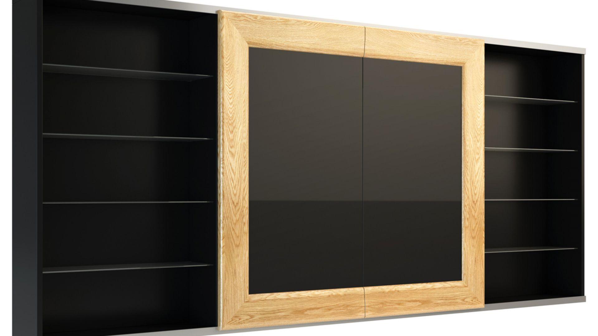 Panel tv z drzwiami przesuwnymi - Corino. Fot. Mebin