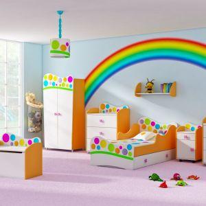 Kolekcja Rainbow jest idealna do pokoju dziecka. Wprowadzi do niego pozytywny nastrój dzięki dużej ilości żywych kolorów. Fot. Baby Best