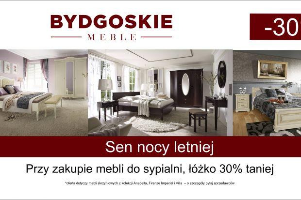 Przy zakupie mebli do sypialniBydgoskie Meble,łóżkootrzymasz 30% taniej! Szczegóły u sprzedawców.