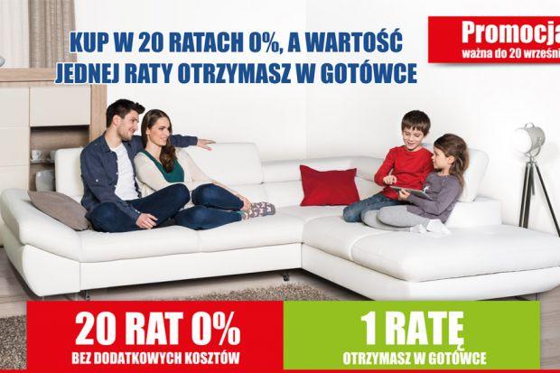 """Promocja """"Agata rozdaje gotówkę - kup w 20 ratach 0%, a wartość jednej raty otrzymasz od nas w gotówce"""" trwa od 7 do 20 września 2015 r."""