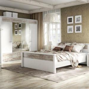 Sypialnia Castello wyróżnia się frontem z efektem przecierania. Fot. Fm Bravo