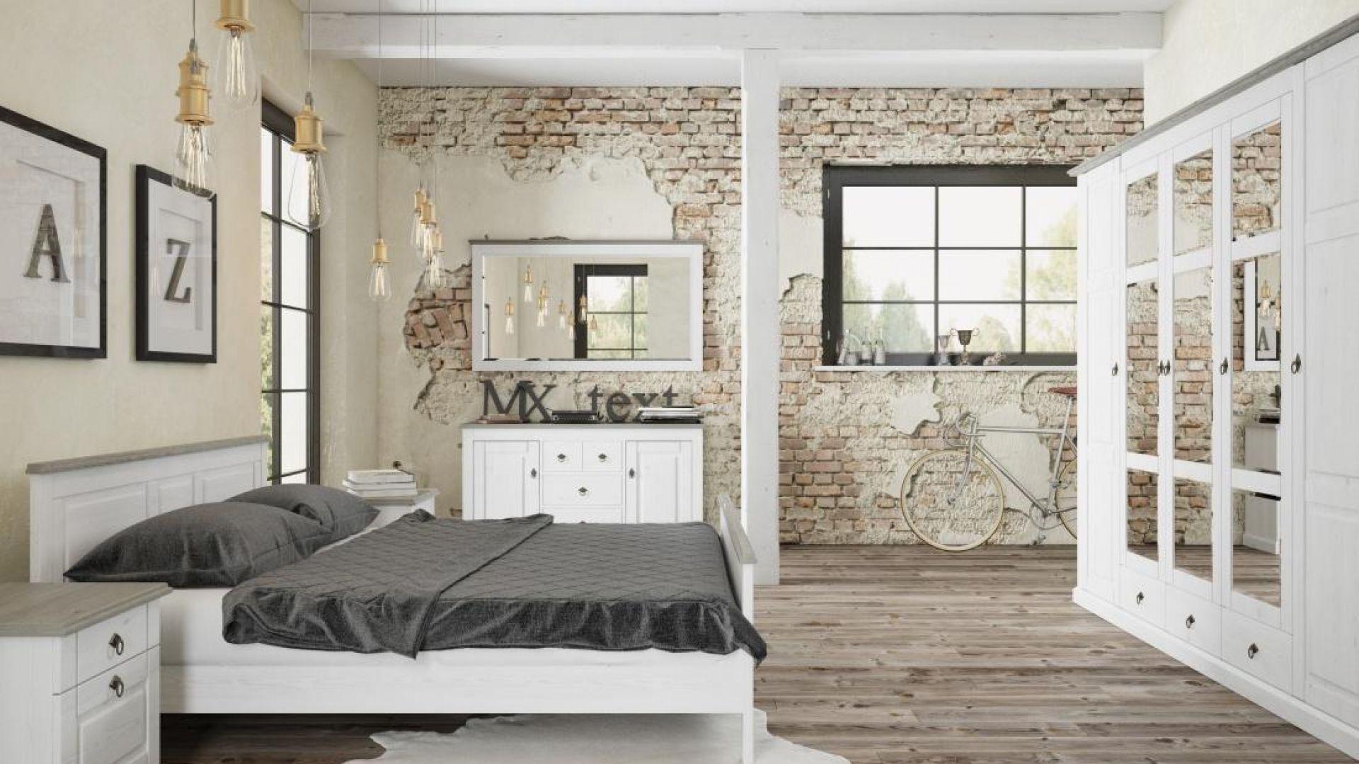 Sypialnia Lima zainspirowana wzornictwem skandynawskim. W ramach kolekcji dostępnych jest dużo brył. Fot. FM Bravo