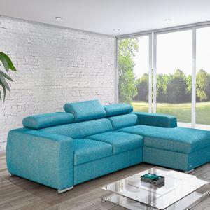 Ogromnym atutem narożnika Vento są ruchome zagłówki, które można dopasować do własnej postawy siedzenia. Fot. Caya Design