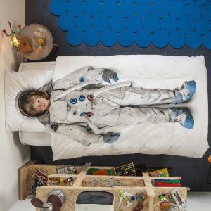 Który z chłopców nie marzy o tym by podróżować po kosmosie. Pod taką pościelą z pewnością będą się śniły wyłącznie kosmiczne sny. Fot. Snurk