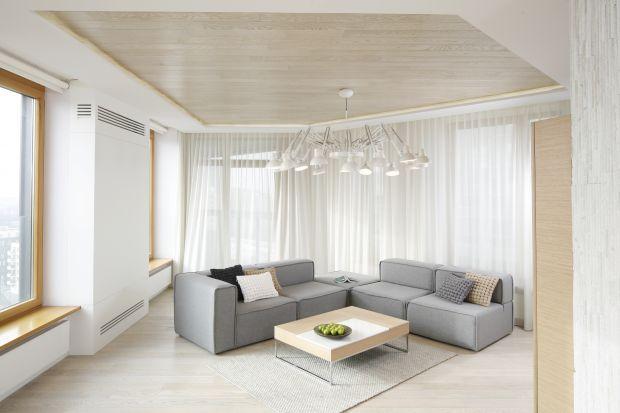 Szara sofa w salonie. 20 zdjęć z polskich domów