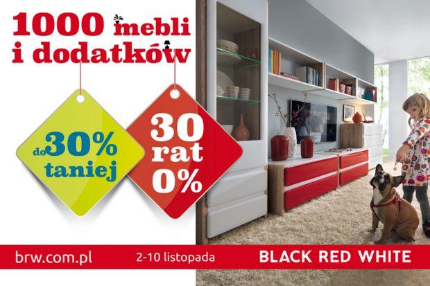 W Black Red White trwają jesienne promocje. W dniach 2-10 listopada 1000 mebli i dodatków zakupić można do 30% taniej. Osoby, które dokonają w tym czasie zakupów, mogą również skorzystać z okazji rozłożenia płatności na 30 rat 0%. Cenowe ob