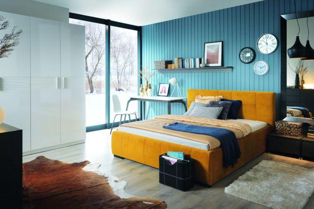 Nowoczesna sypialnia. Łóżka w wiosennych kolorach