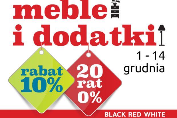 Na Klientów Black Red White czekają atrakcyjne zimowe promocje. Tylko do 14 grudnia meble i dodatki dostępne są taniej o 10%, a płatność za zakupy spośród całego asortymentu można rozłożyć na 20 rat 0% – bez pierwszej wpłaty, bez oprocent