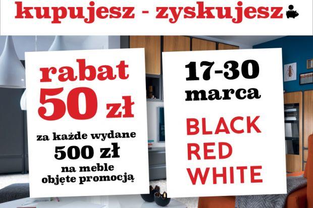 """Na drugą połowę marca firma Black Red White przygotowała dla swoich klientów specjalne okazje. W promocji """"Kupujesz – zyskujesz"""" za każde wydane 500 zł na meble klienci otrzymują 50 zł rabatu. Natomiast na zakupie dodatków można zaoszczę"""