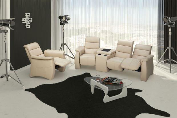 Sofa 3 osobowa z funkcją relaks i barkiem Simone. Oryginalny, modułowy system do każdego rodzaju wnętrza.