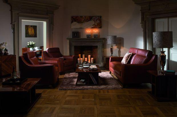 Fotel Toccata wyróżnia się masywną i oryginalną formą.