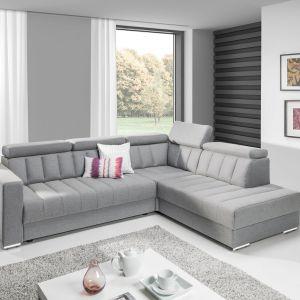zaletą narożnika Marsylia jest komfortowa funkcja spania o powierzchni 150x215 cm. Fot. New Elegance