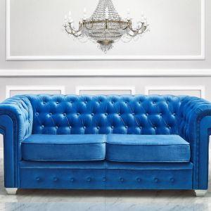 Chesterfield firmy Gawin Meble – udane połączenie klasycznej formy i zaskakującego koloru. Fot. Gawin Meble
