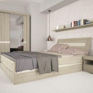 Jasna kolorystyka mebli Madras rozjaśni całe wnętrze sypialni. Fot. Meble Wójcik