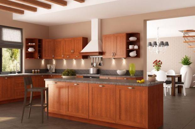 Prosta linia i nowoczesny wygląd w połączeniu z ciepłem naturalnego drewna daje oryginalny efekt.