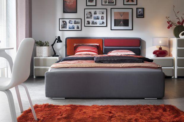 Meble do sypialni. Łóżka z tapicerowanym zagłówkiem