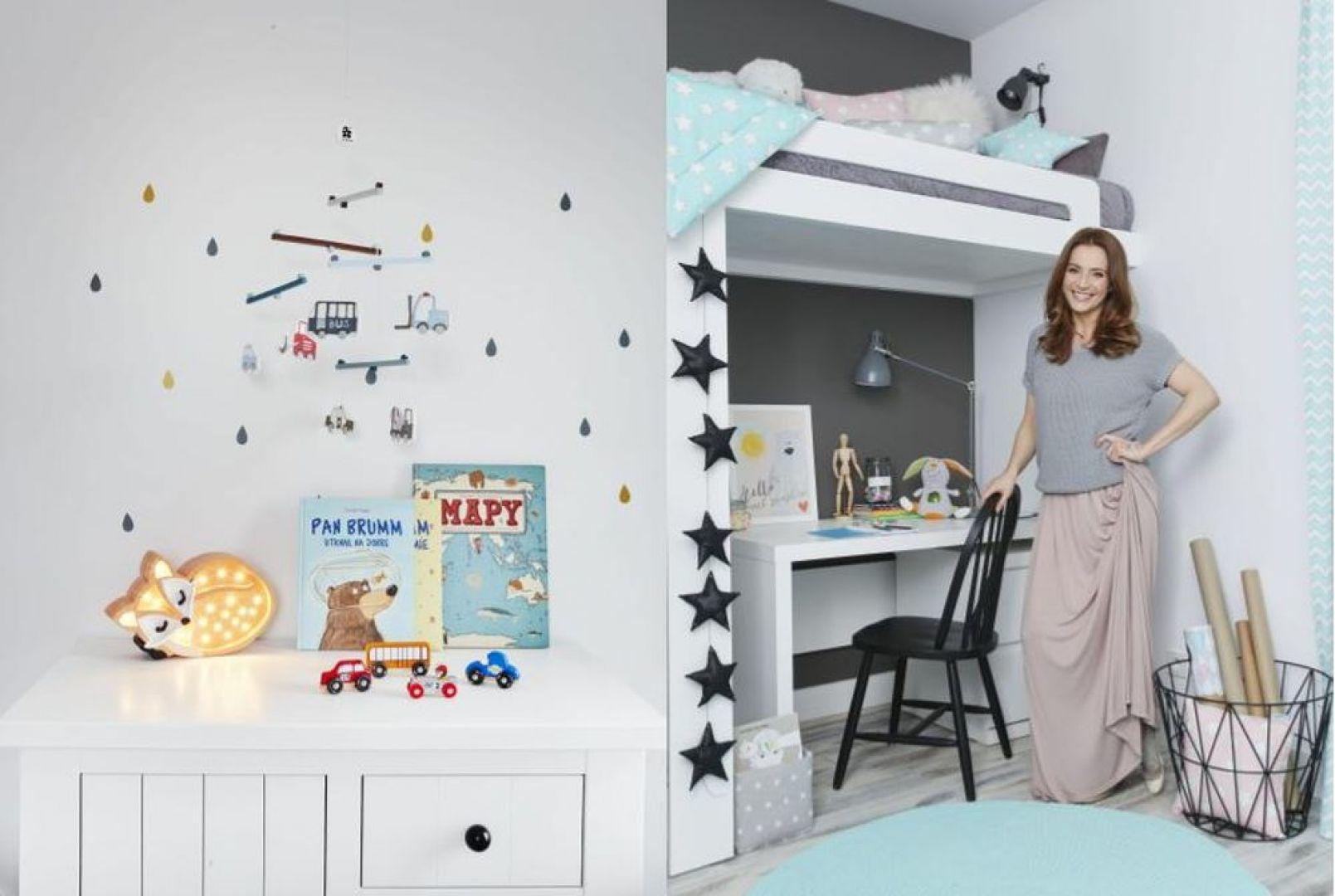 Anna Dereszowska do pokoi swoich dzieci wybrała jasne, stonowane kolory i meble w bieli. To stworzyło pole do śmiałych, kolorowych dodatków. Fot. Celestyna Król